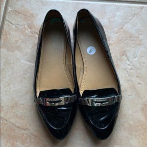 Coach Black Patent Ruthie Moccasin Loafer Size 8B